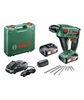 Martillo perforador a batería Uneo Maxx 18V + 2 Bat. (2,5Ah) +maletín Bosch