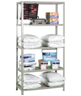 ESTANTERÍA CARGA LIGERA KIT ADVANTAGE PLUS  5/400 OSCURO