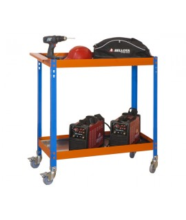 ESTANTERÍA MEDIA CARGA KIT SIMONWORK WAGON 2/400 METALIC AZUL/NAR/GAL