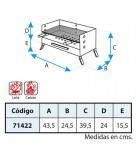 BARBACOA SOBREMESA CON PARRILLA INOX 43.5X24.5X