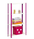 ESTANTERÍA DECORATIVA KIT HOMECLASSIC COLOR MINI 4/300 ROSA/BLANCO