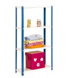 ESTANTERÍA DECORATIVA KIT HOMECLASSIC COLOR MINI 4/400 AZUL/BLANCO