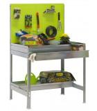 Banco de trabajo con cajón KIT SIMONGARDEN BT2 BOX 1200x400 VERDE/GALVANIZADO
