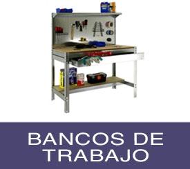 bancos de trabajo metálicos cómodos